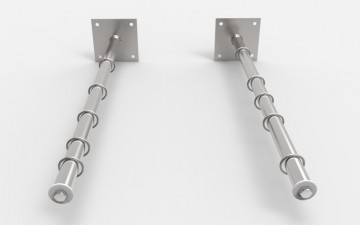 Бельевые кронштейны с кольцами КБ-05